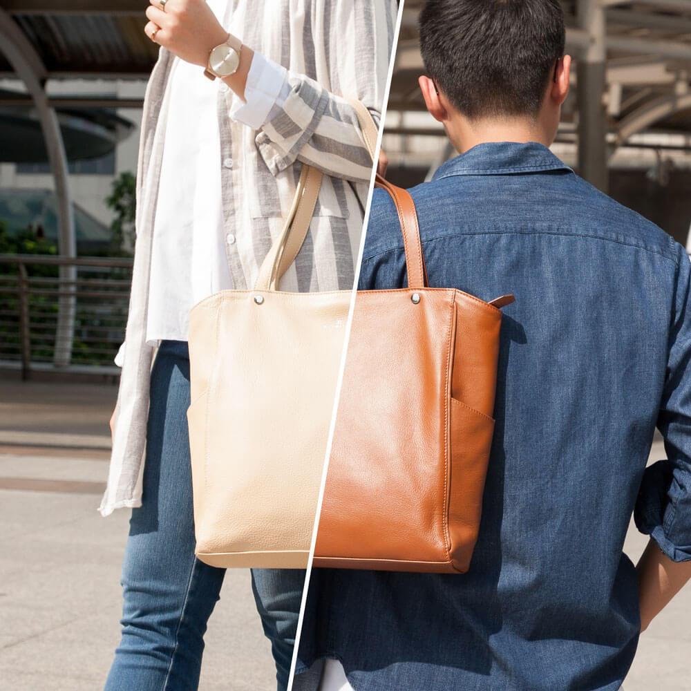 กระเป๋าหนัง Jaxsen ใช้ได้ทั้งชายและหญิง