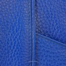 Minimal tote bag Jaxsen Blueberry genuine leather texture 02
