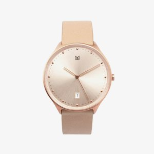 minimal watch neut rose gold-front