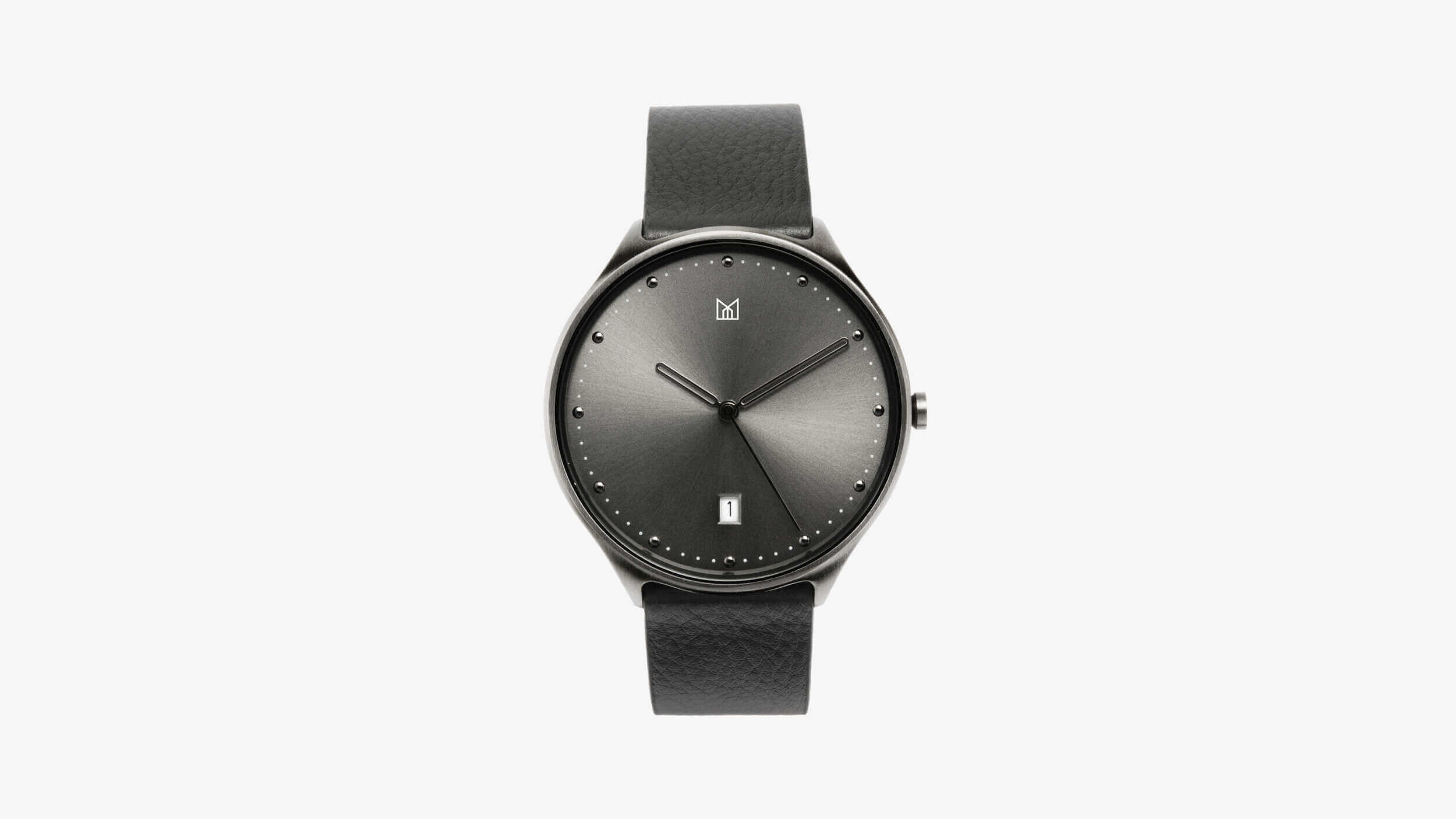 minimal watch neut - black front