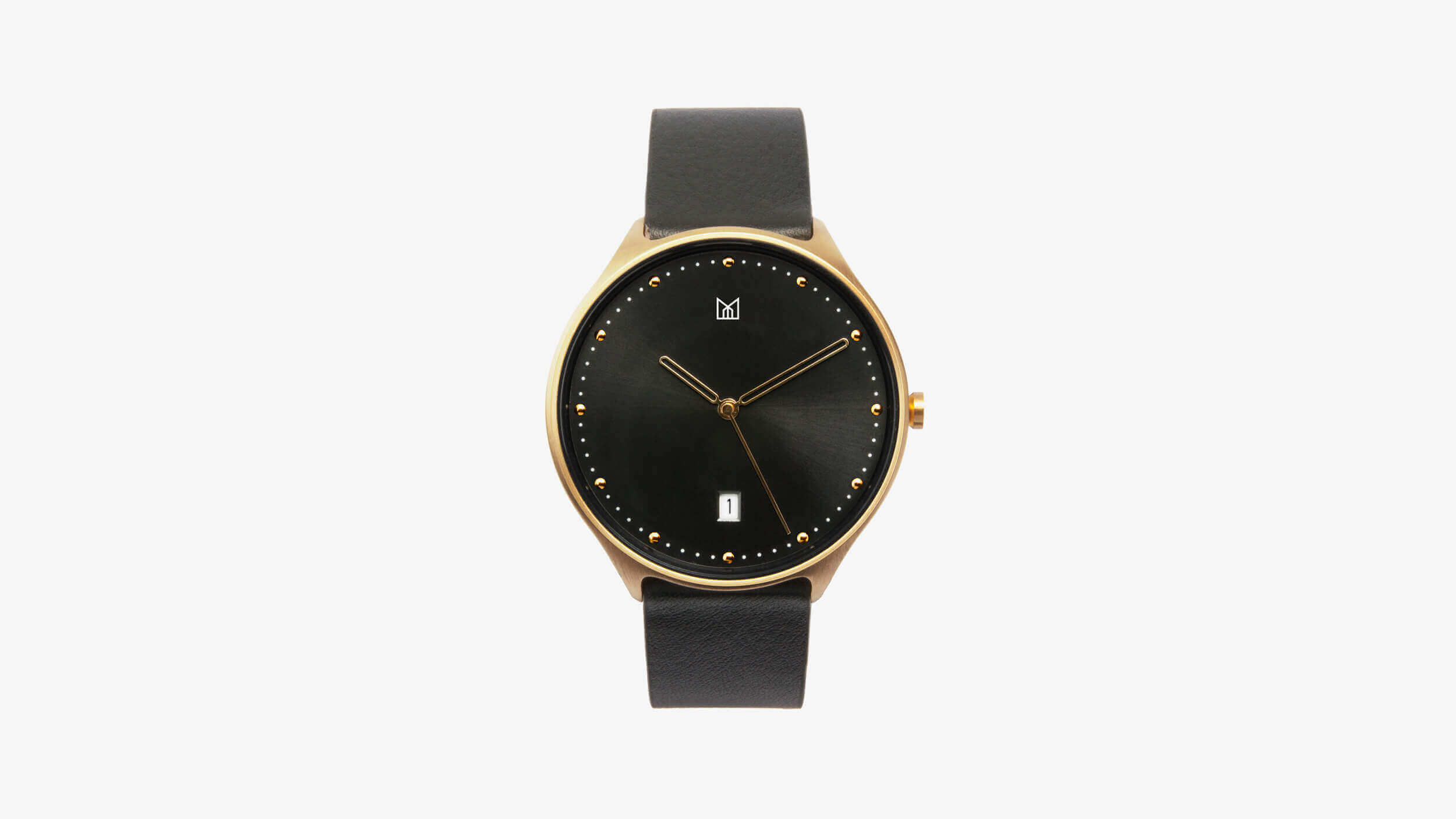 minimal watch neut - gold front
