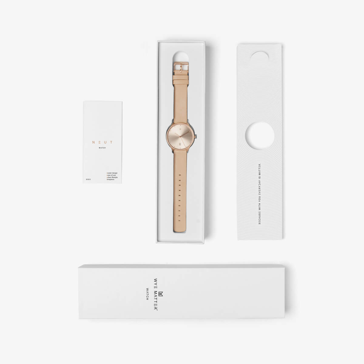 minimal watch neut rose gold-package