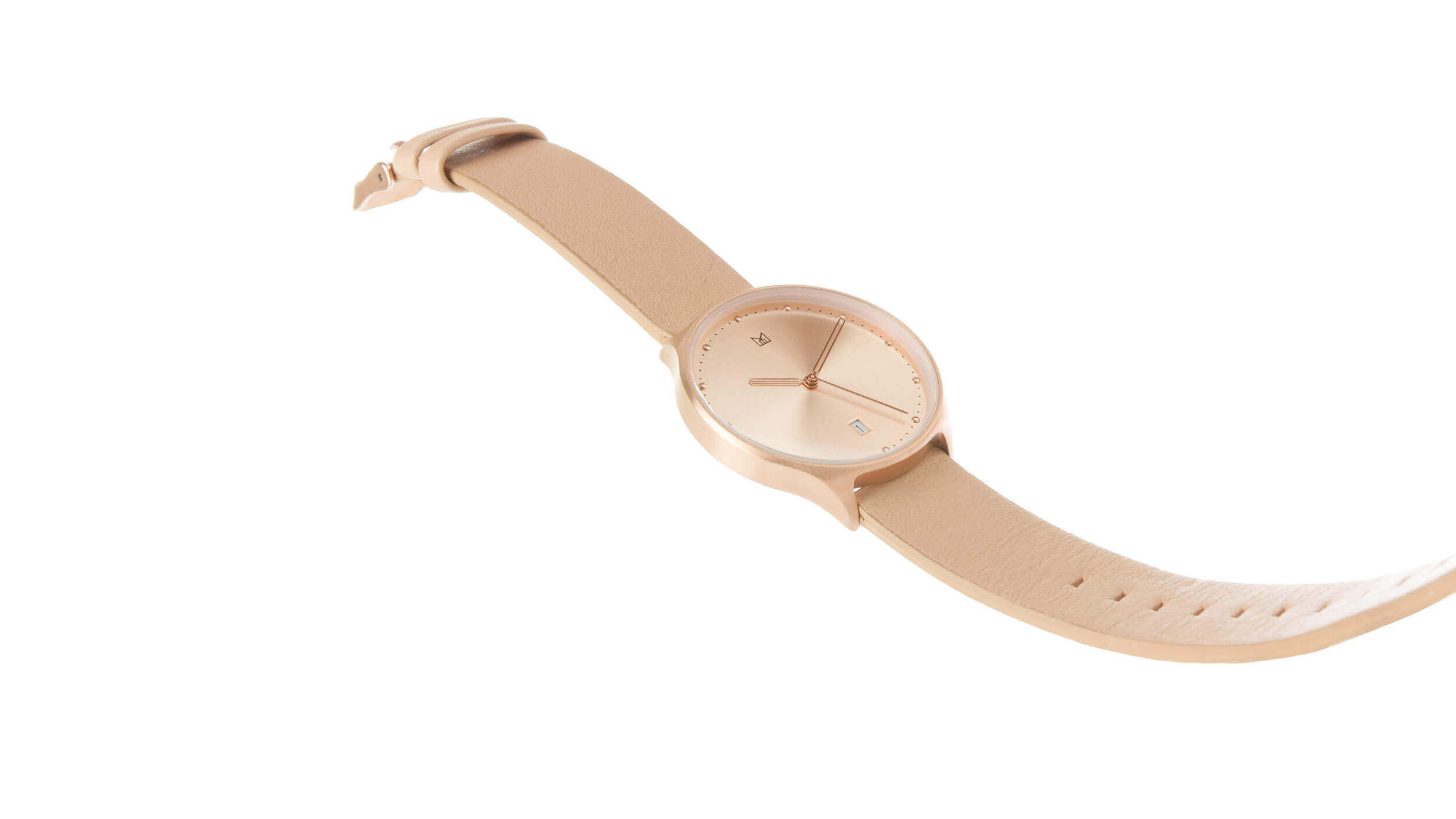 minimal watch neut - rose gold